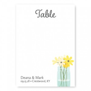 Mason Jar Table Cards
