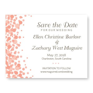 Confetti Save The Date Cards