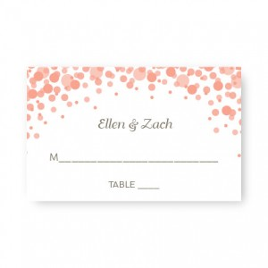 Confetti Seating Cards