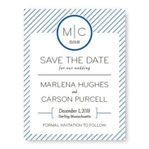 Pinstripe Save The Date Cards