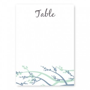 Winter Berry Table Cards
