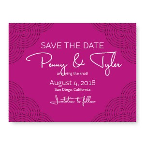Scallop Save The Date Cards