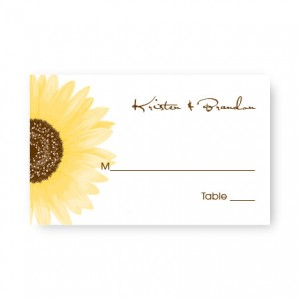 Sunflower Seating Cards