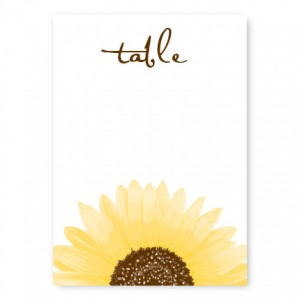 Sunflower Table Cards