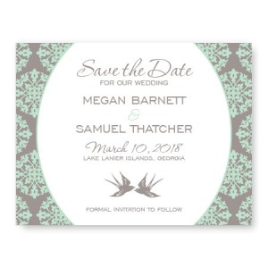 Two Birds Save The Date Cards