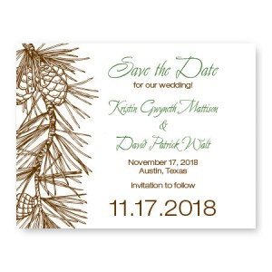 Pine Save The Date Cards