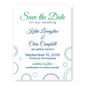 Circles and Dots Save The Date Cards