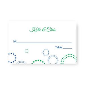 Circles and Dots Seating Cards