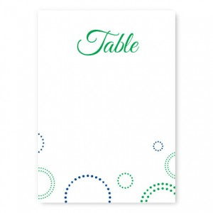 Circle and Dots Table Cards