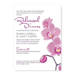 Orchid Rehearsal Dinner Invitations