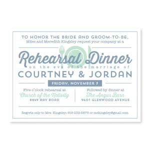 Poster Rehearsal Dinner Invitations