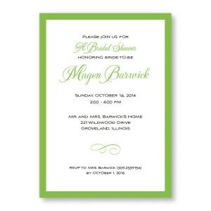 Classic Bridal Shower Invitations
