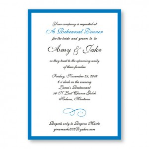 Classic Rehearsal Dinner Invitations