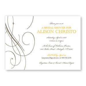 Elegance Bridal Shower Invitations