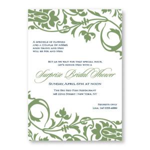 Floral Decor Bridal Shower Invitations