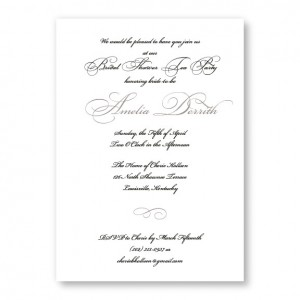 Grace Bridal Shower Invitations