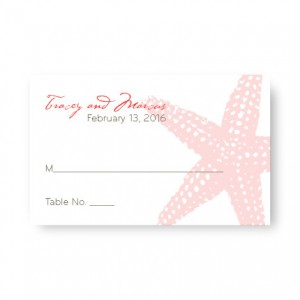 Starfish Seating Cards