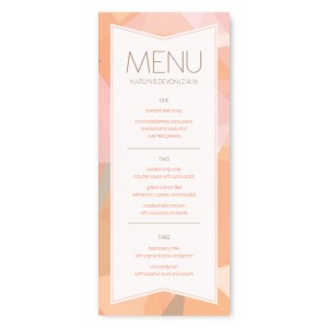 Gemstone Menu Cards