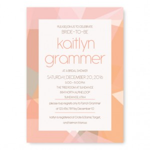 Gemstone Bridal Shower Invitations