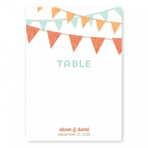 Bunting Table Cards