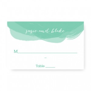 Watercolor Swirl Seating Cards