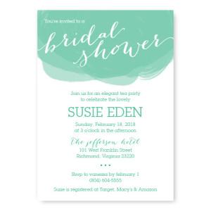 Watercolor Swirl Bridal Shower Invitations