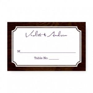 Cozy Cabin Seating Cards