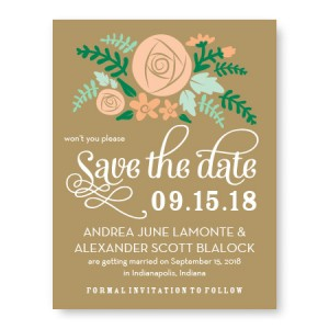 Floral Cluster Save The Date Cards