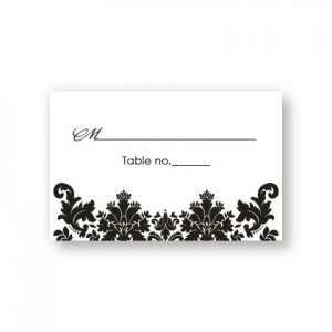 Engagingly Damask Seating Cards