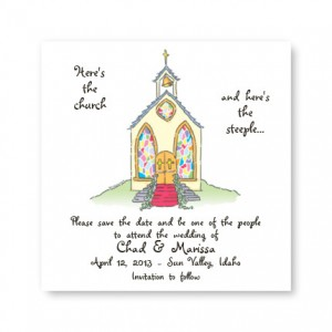 Small Church Save the Date Magnets