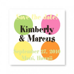 Small Dots Save the Date Magnets