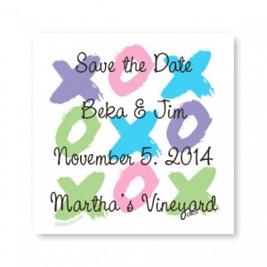 Small XO Save the Date Magnets