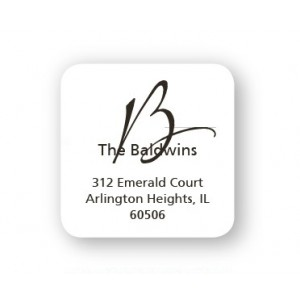 Your Initial Designer Address Labels