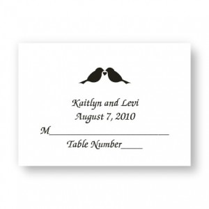 Design Your Own Wedding Place Cards