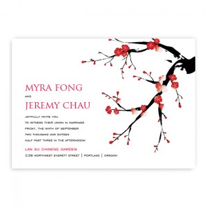 Abigail Red Wedding Invitations