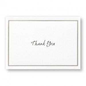 Platinum Border Thank You Cards