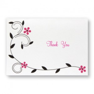 Winking Birds Thank You Cards