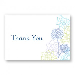 Hydrangea Bloom Thank You Cards