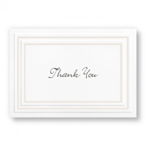 Pearl Framed Elegance Thank You Cards