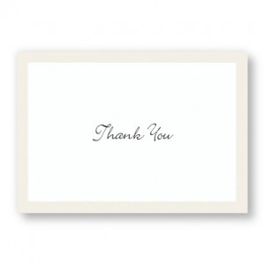Pearl Border Thank You Cards