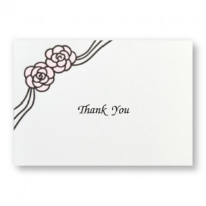 Rosette Thank You Cards - LIMITED STOCK ON HAND