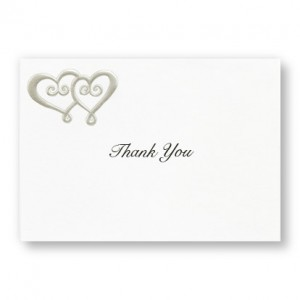Double Hearts Thank You Cards