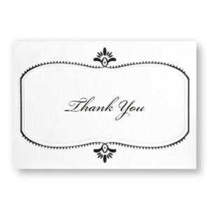 Stylish Frame Thank You Cards