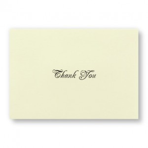 Bridal Lilies Thank You Cards