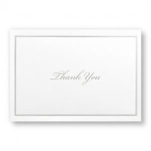 Silver Elegance Thank You Cards