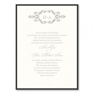 Cecilia 2 Layer Wedding Invitations SAMPLE
