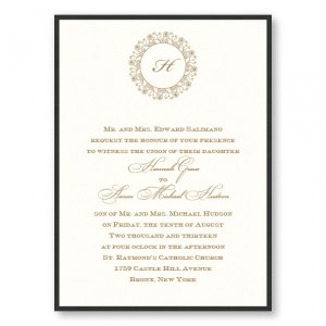 Hannah 2 Layer Wedding Invitations SAMPLE