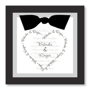 All My Heart Black and White Wedding Invitations