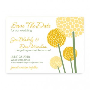 Allium Save the Date Cards