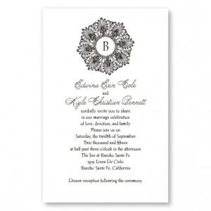 Alluring Initial Letterpress Wedding Invitations